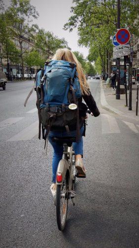 Eines der vielen Velib Leihfahrräder in Paris