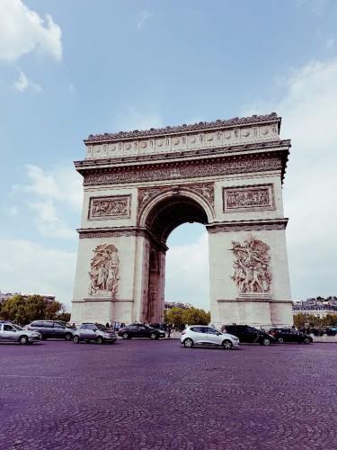 Blick auf den Arc de Triomphe