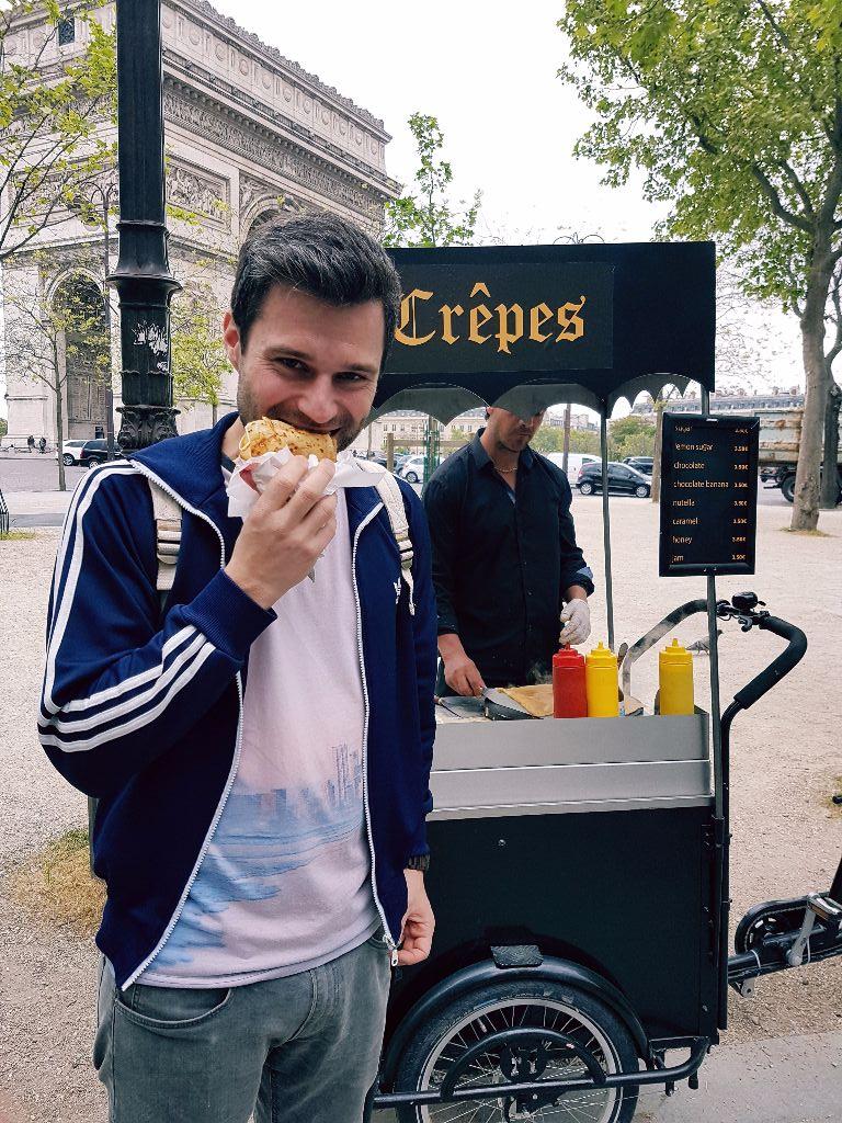 Crêpe essen in Paris