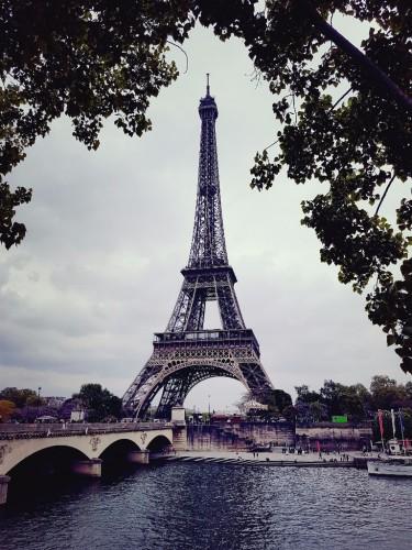 Blick auf den Eiffelturm Paris