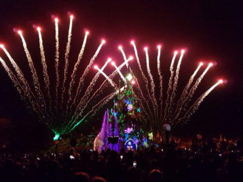 Feuerwerk im Disneyland Paris über dem Schloss