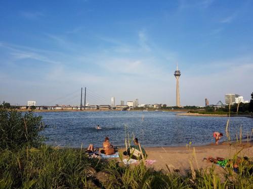 Geheimtipp in Düsseldorf: Der Paradiesstrand
