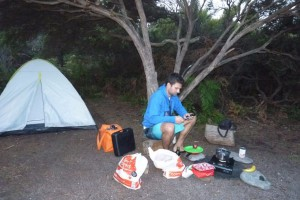 Australien Tasmanien Camping an den Friendly Beaches - Work Travel Balance