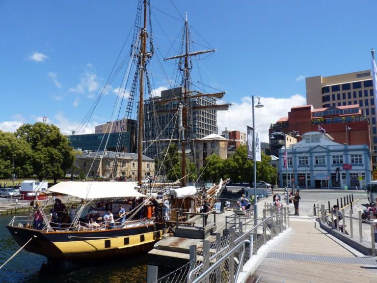 Australien Tasmanien Hobart Waterfront. Reisebericht über Hobart Sightseeing von Work Travel Balance