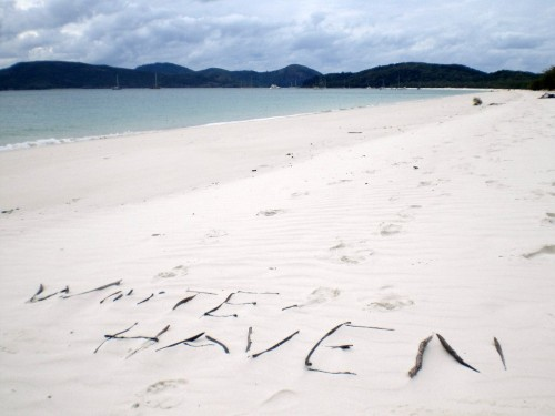 White Haven Beach auf den Whitsundays in Australien - ein Highlight an der Ostküste