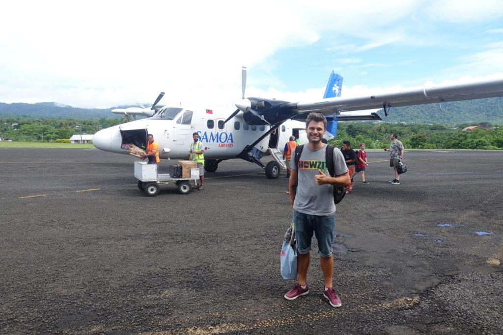 Von American Samoa nach Samoa fliegen mit Air Samoa. Unser Flieger war eher klein - Reisetipps Samoa Reisebericht