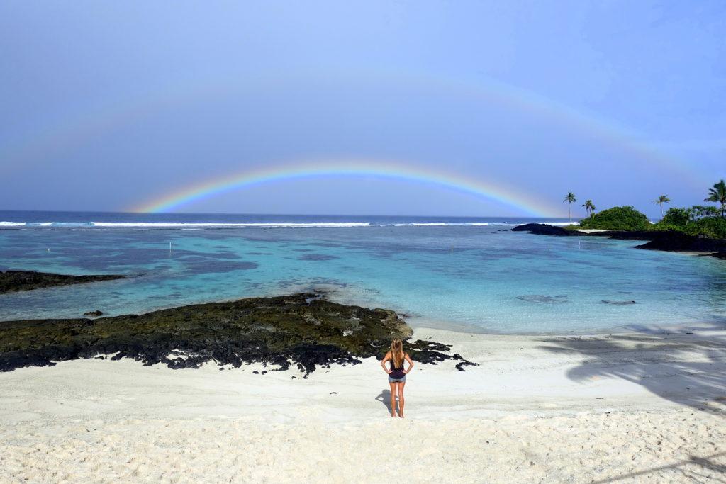 Regenbogen über dem Matareva Beach - Samoa-Reisebericht
