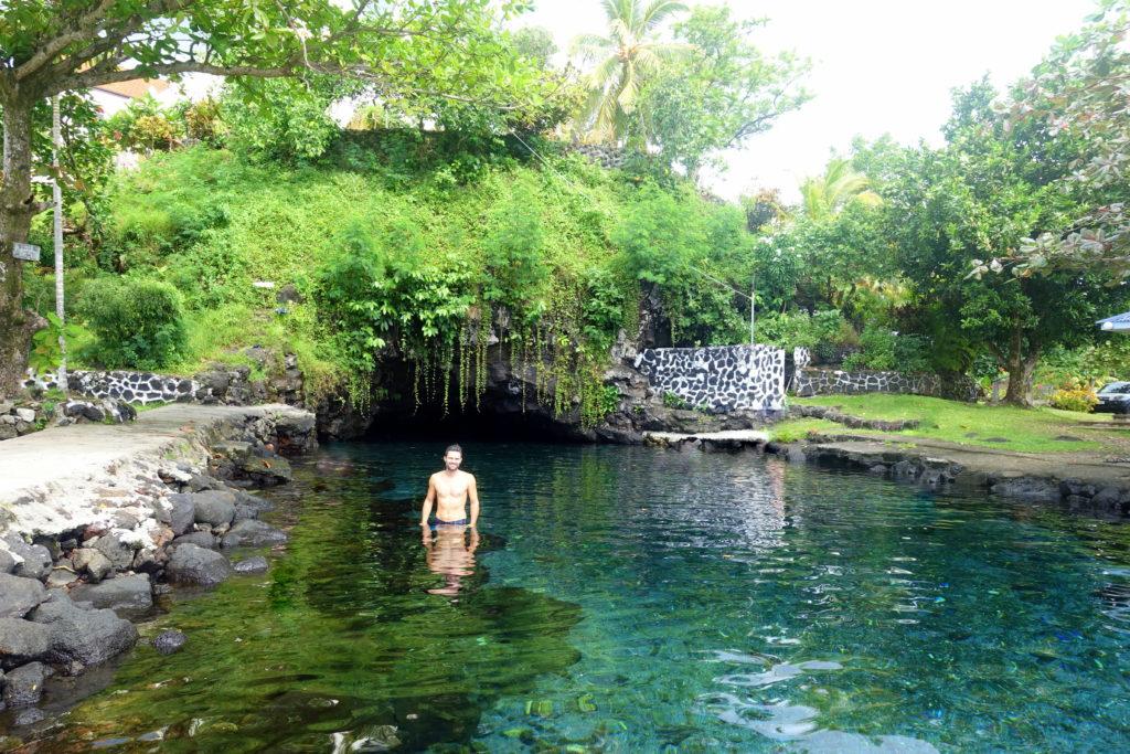 Sehenswürdigkeit in Samoa: Piula Cave Pool - Samoa Reisebericht und Reisetipps