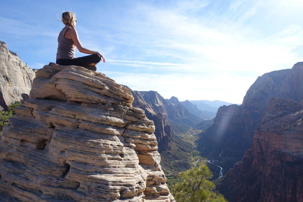 Rundreise USA Westen - Zion Nationalpark Angels Landing Wanderung - Reiseroute für 3 Wochen Roadtrip im Westen der USA