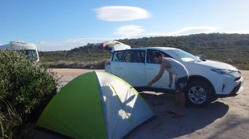 Backpacking in Tasmanien: Unser Mietwagen auf unserer Tasmanien-Reise