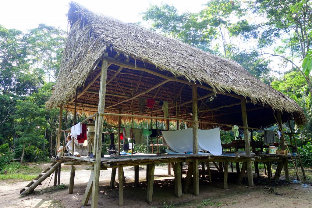 Unterkunft bei der Dschungel-Tour in Peru