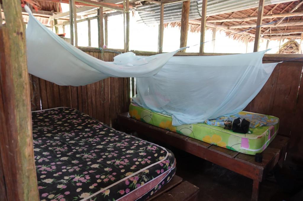 Betten bei der Amazonas-Tour in Peru