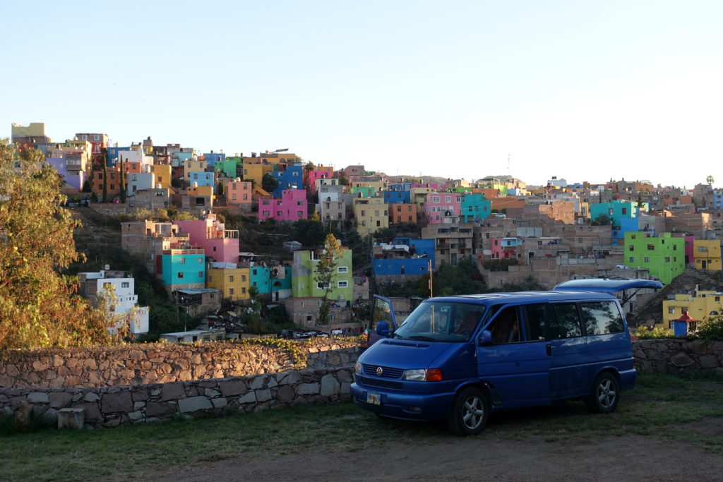 Backpacking in Mexiko - Rundreise mit dem Bulli durch Mexiko - Campingplatz in Guanajuato