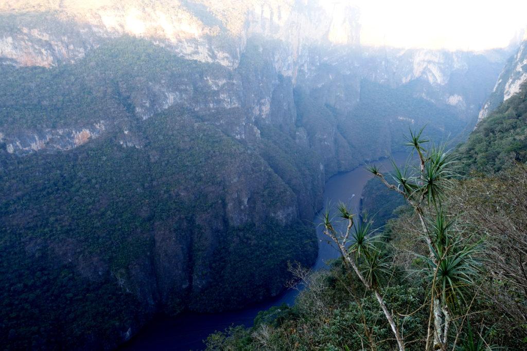 Sumidero Canyon in Chiapas von oben vom Aussichtspunkt - ein Highlight in Chiapas