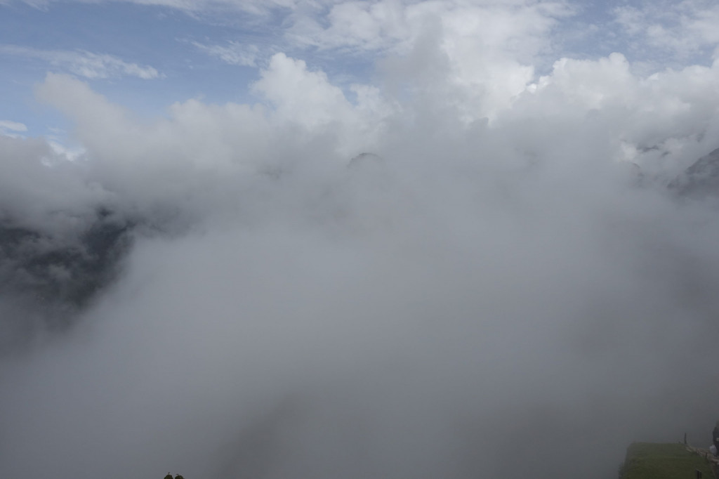 Machu Picchu Erfahrungsbericht: absoluter Nebel bei unserem Besuch