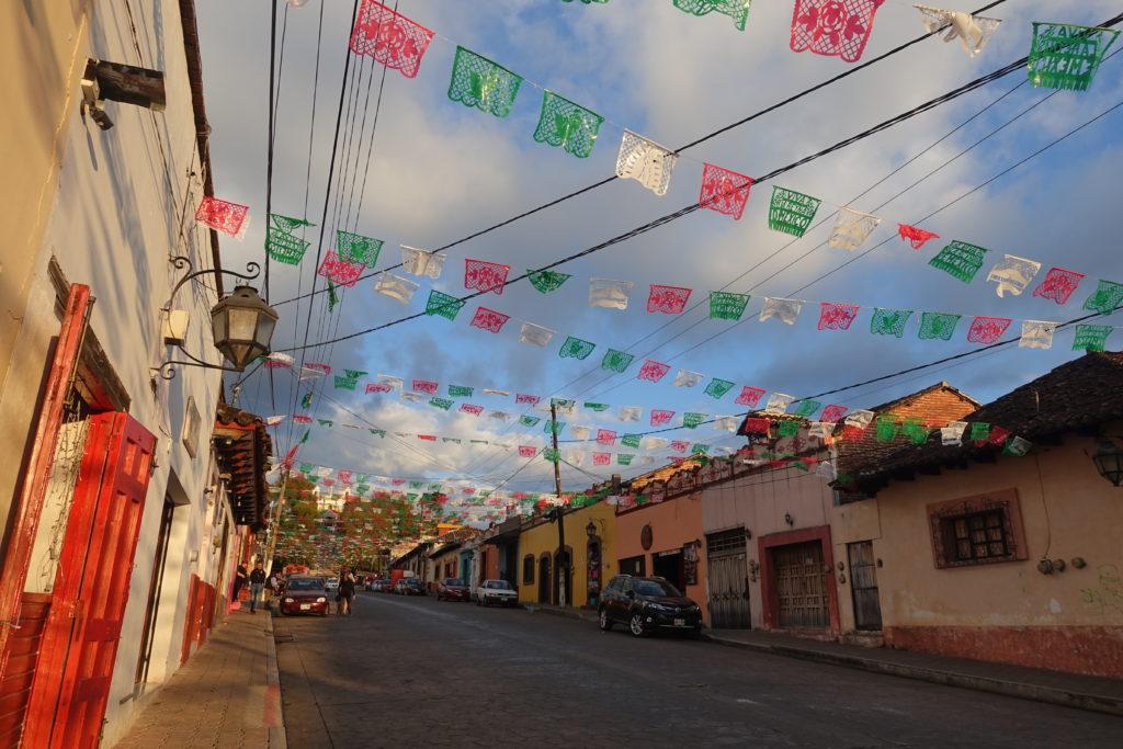 Sehenswürdigkeit in Chiapas in Mexiko: Bunte Häuser und schöne Altstadt in San Cristobal de las Casas