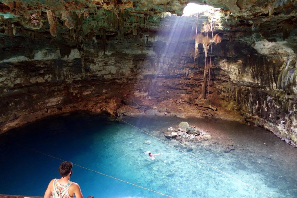 Cenote Samulá - Reisebericht über unsere Rundreise auf der Halbinsel Yucatán inklusive Campeche und Quintana Roo. Speziell für Backpacker in Mexiko und Rundreisen im Yucatán