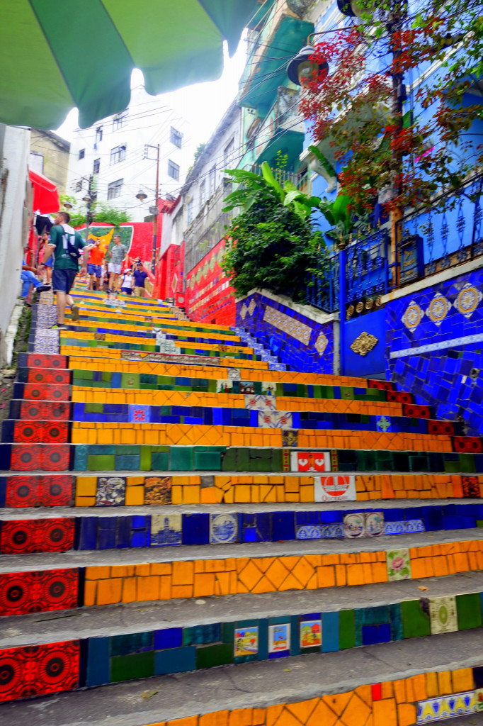 Sightseeing in Rio de Janeiro: Escadaria Selaron