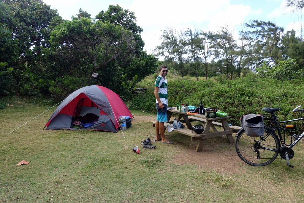 Camping auf Hawaii Oahu Mittwoch und Donnerstag auf privatem Campingplatz auf Oahu