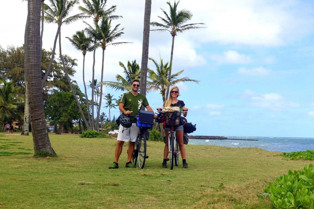 Hawaii mit dem Fahrrad- auch auf Kauai sind wir mit dem Fahrrad unterwegs - Radreise auf Hawaii