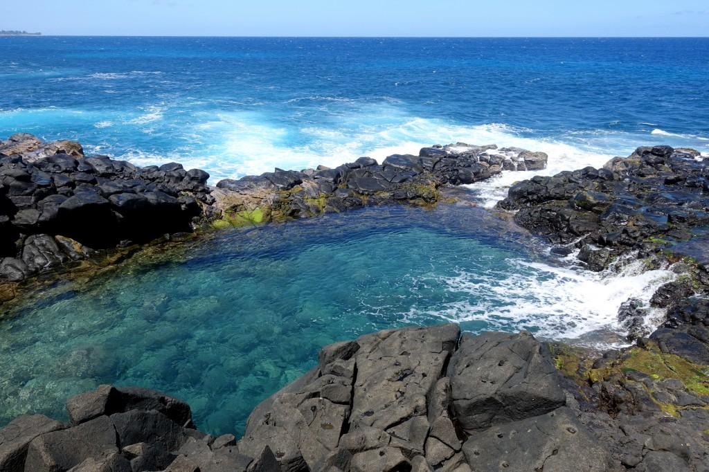 Sehenswürdigkeiten auf Kauai - das gefährliche Queen's Bath auf Kauai
