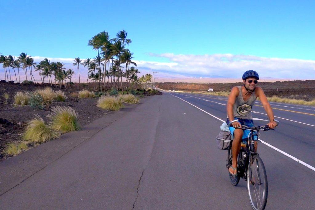 Mit dem Fahrrad auf Big Island nahe Kona - Hawaii mit dem Fahrrad - Tipps und Erfahrungsbericht