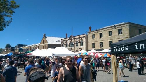Tasmanien Sehenswürdigkeiten Hobart: der Scalamanca Markt am Samstag