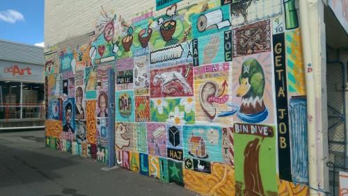 Sightseeing in Hobart: Street-Art auf der Elizabeth Street