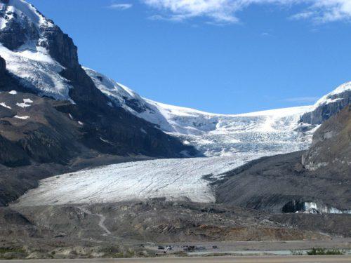 Kanada Rundreise - Jasper Nationalpark - Route für BC und Alberta in Kanada - Ein Highlight im Jasper Nationalpark ist der Athabasca Glacier