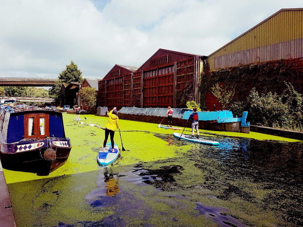 Paddington Basin: Stand-up Paddling auf dem Kanal in Paddington - Sehenswürdigkeiten in London