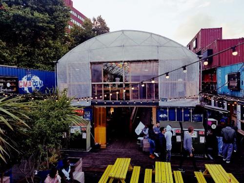 Das Pop Brixton in London - hier gibt es richtig gutes Streetfood