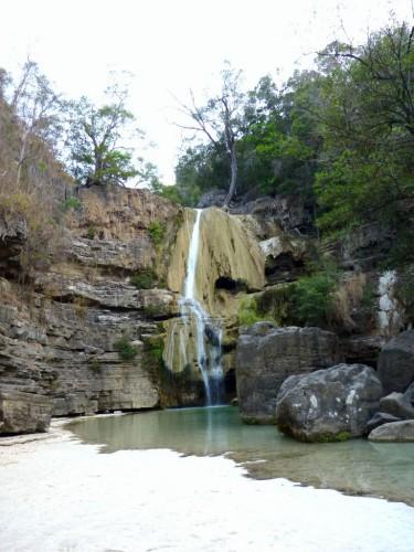 Madagaskar-Backpacking: Duschen im Wasserfall