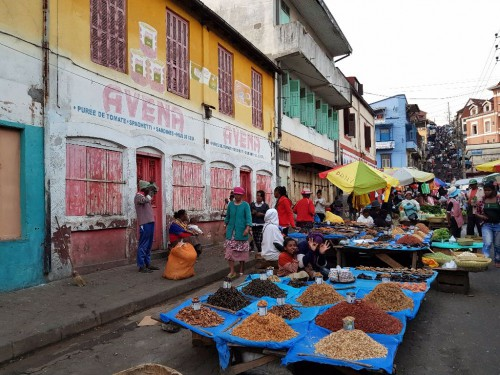 Madagskar-Backpacking: Markt in Antananarivo