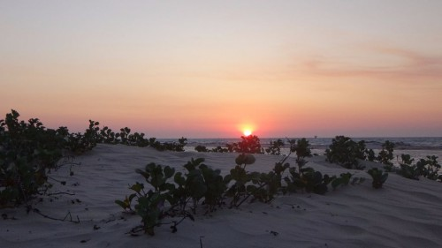 Sonnenuntergang in Morondava - Madagaskar Backpacking