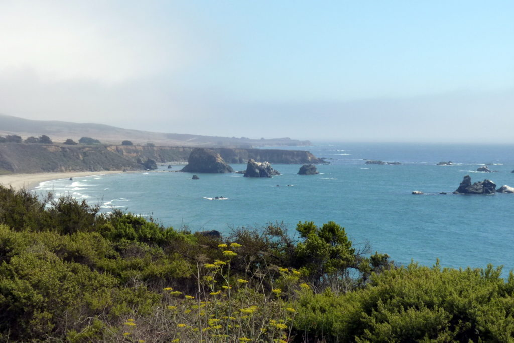 Kalifornien-Reiseroute entlang der Küste