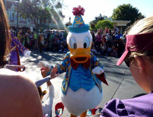 Donald Duck bei der Parade im Disneypark in Orlando