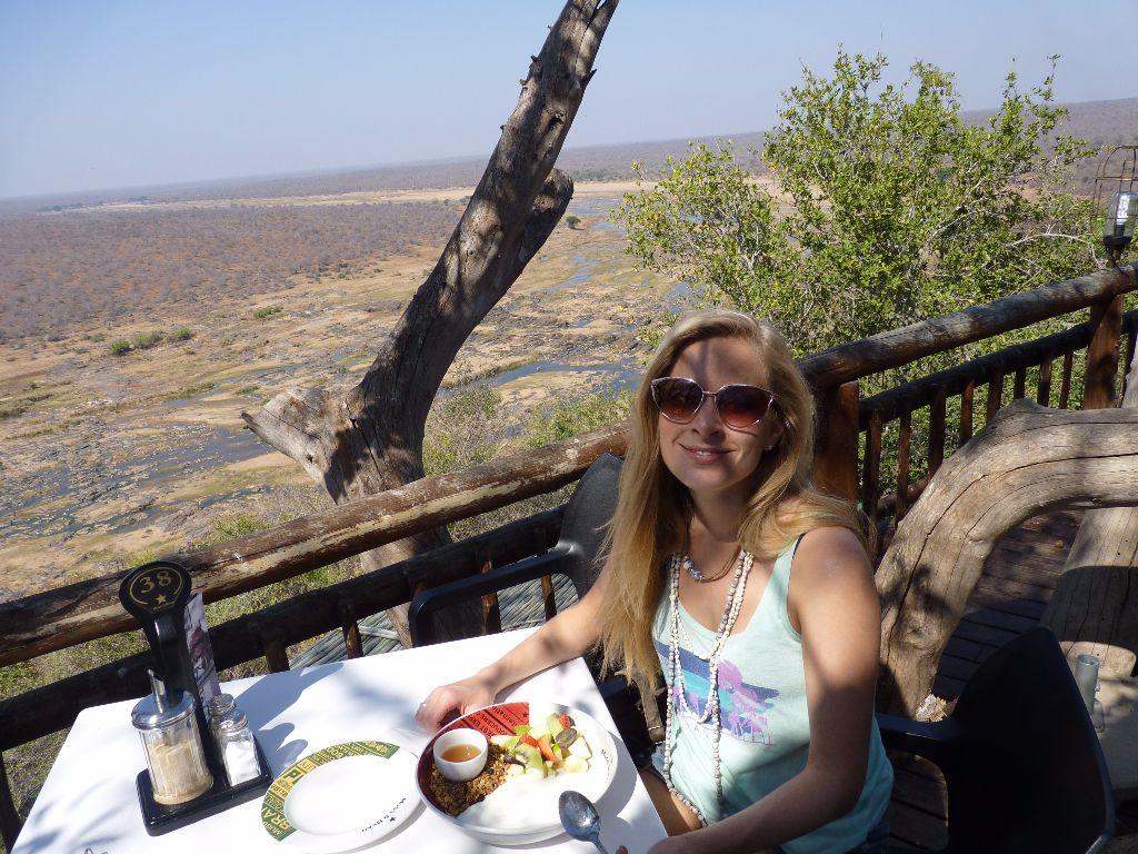 Reisebericht Krüger Nationalpark: Essen im Restaurant im Olifants Rest Camp