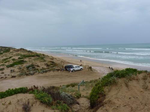Strand im Coorong Nationalpark - nur mit 4WD oder zu Fuß zugänglich