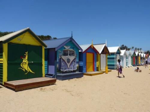Der Brighton Beach in Melbourne ist bekannt für seine bunt bemalten Häuschen. Für mich eine absolutes Melbourne-HIghlight!