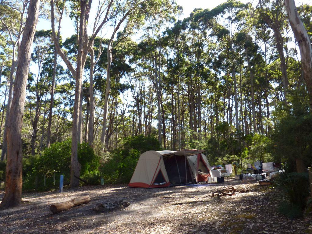 Campground am Fortescue Bay in Tasmanien - - Tasmanien-Sehenswürdigkeiten auf deiner Tasmanien-Rundreise