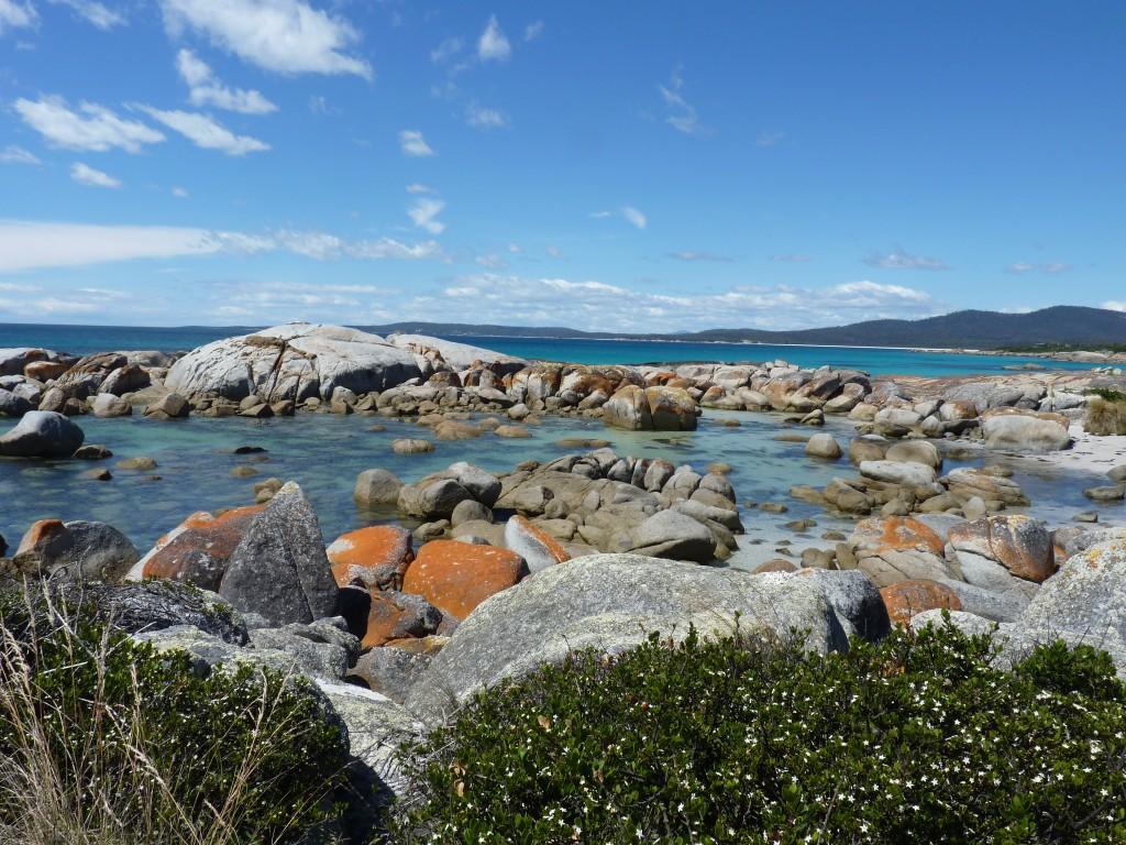 Bay of Fires an der Ostküste Tasmaniens - Sehenswürdigkeiten in Tasmanien auf deiner Rundreise in Tasmanien