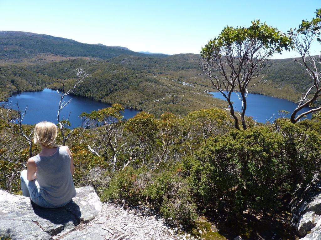 Tasmanien-Sehenswürdigkeiten: Cradle Mountain Ausblick vom Cradle Mountain Reisebericht für Camping und Backpacking in Australien